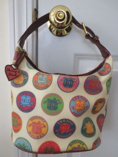 DOONEY & BOURKE $228 Handbag XMINT Coated Signature Hobo Heart Hardware VCute  #DooneyBourke #Hobo