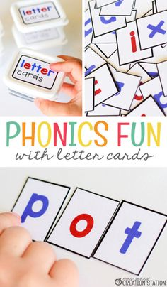 Phonics with Letter Cards – Mrs. Jones Creation Station Phonics with Letter Cards – Mrs. Jones Creation Station,Free Education Printables Phonics is a vital part of elementary classrooms. It is the beginning step to. Learning Phonics, Phonics Lessons, Phonics Activities, Teaching Reading, Preschool Activities, Phonics Reading, Free Phonics Games, Preschool Phonics, Teach Preschool