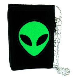 4c4d582c6b5 Little Green Men Alien Tri-fold Wallet Alternative Clothing People of Earth