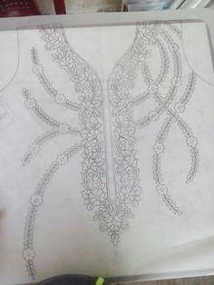Hand Embroidery Design Patterns, Hand Work Embroidery, Embroidery Suits Design, Embroidery On Clothes, Hand Embroidery Stitches, Machine Embroidery Designs, Couture Embroidery, Beaded Embroidery, Fabric Design