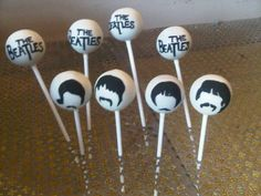 8 adorable cake pops from POP Bakery: koalas, The Beatles, sunflowers, wedding pops, cupcakes and Bolo Dos Beatles, Beatles Cake, The Beatles, Beatles Birthday Party, My Best Friend's Birthday, Birthday Cake, Themed Wedding Cakes, Gifts For Wedding Party, Themed Weddings