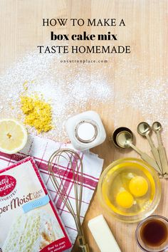 Have you ever wondered how to make a box cake mix taste homemade? I have 12 tricks that will take a simple box cake mix and turn it into a delicious cake that tastes homemade. Box Cake Mix, Yummy Cakes, Homemade, How To Make, Something Sweet, Cake Recipes, Desserts, Tailgate Desserts, Deserts