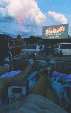 Go see a movie at a drive-in cinema with friends