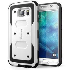 Galaxy S6 Hülle, i-Blason Galaxy S6 Hülle Armorbox Zwei-Schichte hybride Tasche Schutzhülle mit eingebauter Displayschutzfolie und schlagfesten Rahmen (Weiß): Amazon.de: Elektronik