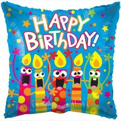 Happy Birthday Singing Candles Foil Balloon 18 In
