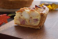 Quiche potato and bacon