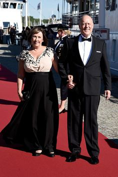 The bride's parents mrs. Marie Hellqvist and mr. Erik Marie Hellqvist arrive for the pre-wedding on June 12; wedding of Prince Carl Philip of Sweden and ms. Sofia Hellqvist on June 13, 2015
