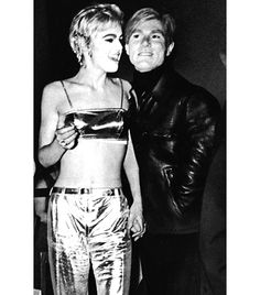 @Who What Wear - Edie Sedgwick                 Notable for her dramatic black eyeliner and daring jewelry, we knew the Andy Warhol muse was bound to have a look worth imitating. Reach for a pair of metallic flares and layer on the eye makeup for an ensemble fit for the most exclusive of fêtes.