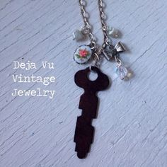 A personal favorite from my Etsy shop https://www.etsy.com/listing/254680125/repurposed-vintage-charmed-key-necklace