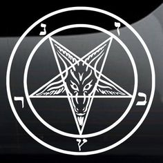 A personal favorite from my Etsy shop https://www.etsy.com/listing/470856146/baphomet-pentagram-sigil-vinyl-decal