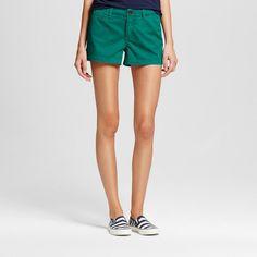 Women's 3 Inseam Chino Short Green 10 - Merona