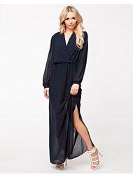 9bbbf7d8835c John Zack Chiffon L S Maxi Dress Günstige Boutique-kleidung