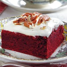 Gooseberry Patch Recipes: Red Velvet Brownies with cream cheese frosting. From Gifts from the Kitchen Cookbook