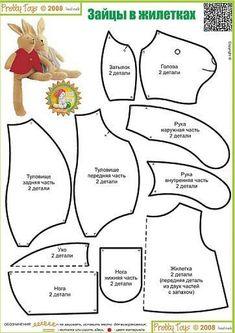 El chanchito verde manualidades : Patrones de conejos (de caricatura y realistas)