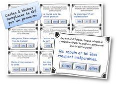 cartes a taches remplacer le gs par un pronom