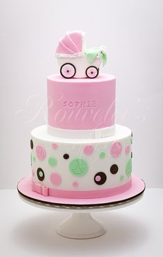 Girl shower cake