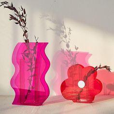 Postmodern Acrylic Vases - E