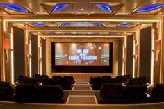 A very elegant Art Deco Media Room. Absolutely Stunning.
