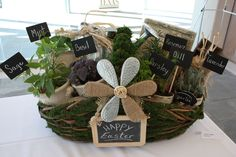 DIY Gift idea- herb filled moss basket {The Creativity Exchange}