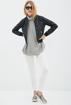 Quilted Faux Leather Bomber | FOREVER21 | #thelatest