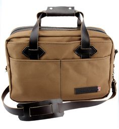 Purchase our Classic Briefcase in Toffee Brown available at Copper River Bag Co. http://www.copperriverbags.com/classic-briefcase-water-resistant-roomy-cotton-duck-toffee-brown-15-cd-br-clbr/