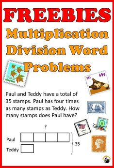 Practice solving multiplication division word problems using proven Singapore bar modeling method. A total of 6 exercises. Second Grade Freebies, 3rd Grade Math, Fourth Grade, Third Grade, Math Class, Free Math Worksheets, Math Resources, Printable Worksheets, Teaching Math