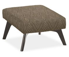"""Room & Board - Boden 22x22"""" Ottoman.  Correct ottomen, wrong material.  Actual material is charcoal"""