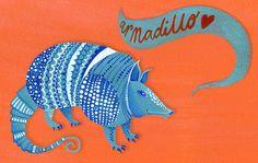Colour theme - turquoise, blue & orange #armadilloflip