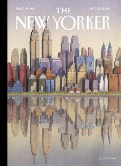 "The New Yorker - Monday, September 15, 2003 - Issue # 4043 - Vol. 79 - N° 26 - Cover ""Twin Towers"" by Gürbüz Doğan Ekşioğlu"