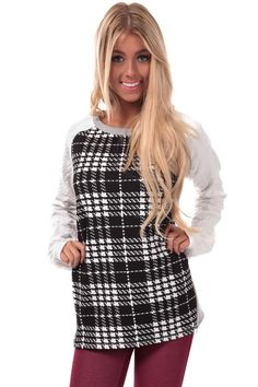 Lime Lush Boutique - White and Grey Plaid Sweater, $32.99 (http://www.limelush.com/white-and-grey-plaid-sweater/)#chronicleblog #lovefashion #new #fashionblog #instafashion #photomodel #beauty #trend #queen #day #us #follow #girl #dress #princess #look #lookbook #like #beautiful #cute #sexy #iphonesia