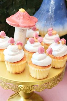 Don't miss this pretty pink Bambi-themed birthday party! The cupcakes are so pretty! See more party ideas and share yours at CatchMyParty.com   #catchmyparty #partyideas #bambi #bambiparty #woodlandparty #girlbirthdayparty #woodlandcupcakes