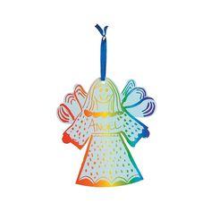 Magic Color Scratch Angel Ornament - OrientalTrading.com