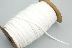 Off White Knit Jersey Trim Spaghetti Straps Hollow Tube