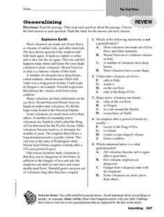 Generalization: Quiz & Worksheet for Kids | Study.com