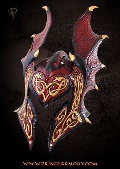 Flame Armor Leather Helmet by Azmal.deviantart.com on @deviantART