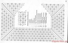Ideas For Crochet Cardigan Diagram Jackets Charts Crochet Blanket Edging, Crochet Yoke, Crochet Collar, Granny Square Crochet Pattern, Crochet Girls, Crochet Jacket, Crochet Diagram, Crochet Woman, Crochet Chart