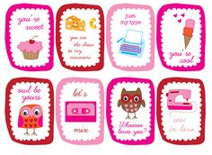11 FREE VALENTINE PRINTABLES! Everything from cards to bag toppers!