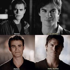 #TVD The Vampire Diaries  Stefan & Damon, I'm so glad they got reunited!! :D - The wolf that kills