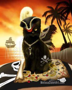 "Pirate Kitty, ""Shiver Meow Timbers"""