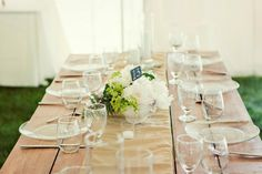 Tailored Engagements custom wood tables for a rustic yet romantic feel. Photograph by Woodnote Photography.