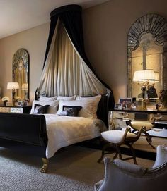 Elegant and romantic bedroom