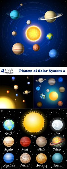 Vectors - Planets of Solar System 4