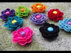 DIY Crafts, Felt  Flower Tutorial ( Cara Membuat Kreasi Bunga dari Flanel )