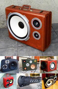 Repurposed suitcases / speakers