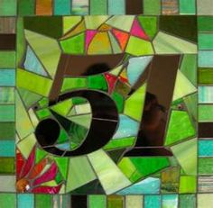 House Number Mosaic This Mosaic was Pinned By www.mosaicnumbers.com