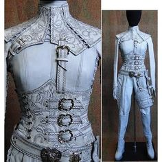 tenue blanche de la Mord' Sith Denna saison 2 Denna's white leather costume from season 2 Leather Armor, Leather Corset, Movie Costumes, Cosplay Costumes, Sith Costume, Halloween Costumes, Costume Blanc, Estilo Tomboy, Cool Outfits