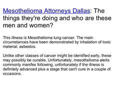 Thoracic Program at Baylor in Dallas mesothelioma attorneys dallas