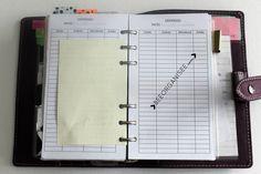 la section dépenses dans mon planner - suivre son budget