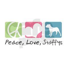 Peace, Love, Staffys Banner