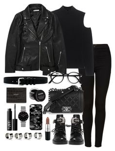 Untitled #3663 by theeuropeancloset on Polyvore featuring Topshop, Balenciaga, The Mercer N.Y., T By Alexander Wang, NYX, IRO, MAC Cosmetics, Yves Saint Laurent, Mr. Gugu & Miss Go and Maison Margiela